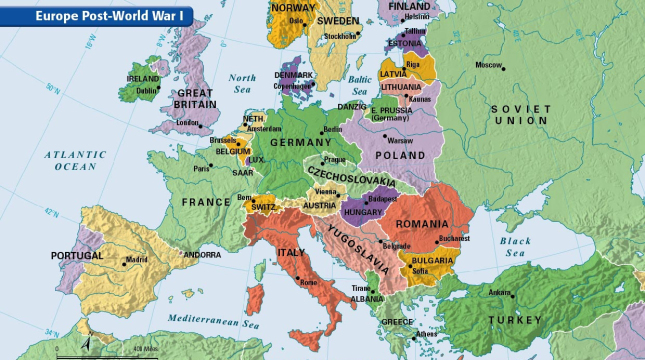 WWI Transformed the Map of Europe – Could It Change Again? on iran map, greece map, memel map, new zealand map, germany map, essen map, turkey map, berlin map, luxembourg map, morocco map, estonia map, albania map, saarbrucken map, oder map, rhineland map, tunisia map, trieste map, japan map, northern epirus map, poland map,